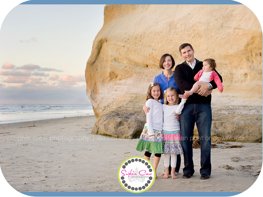 San Diego Beach Family Baby Newborn Child Photography
