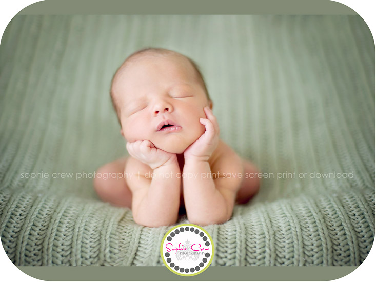 San Diego Newborn Photographer in home infant baby
