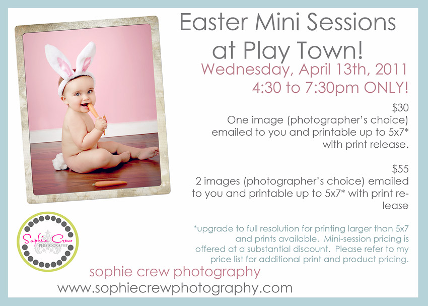 San Diego Mini Easter Photographer sessions Play Town Indoor Playground El Cajon studio Easter specials