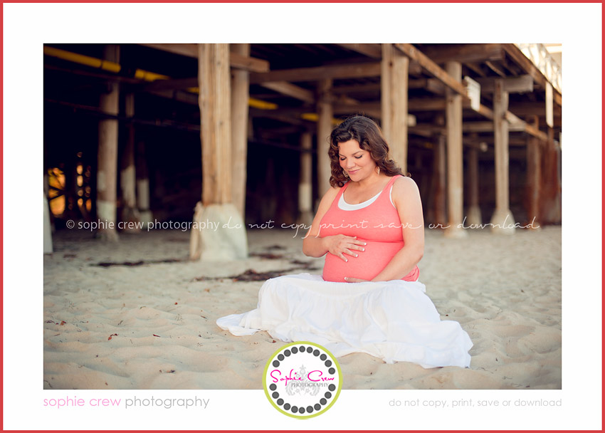 pacific beach crystal pier pregnancy materntiy newborn photography