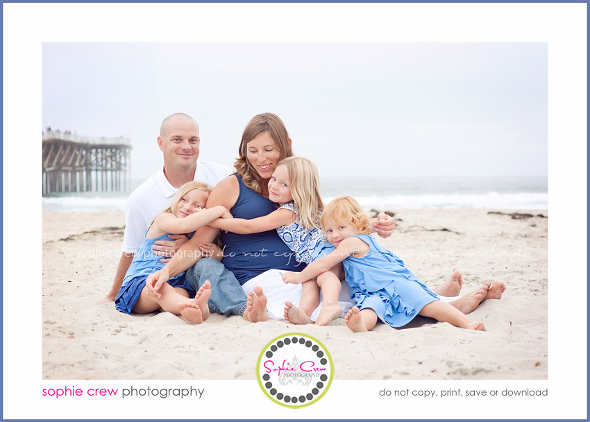 Family Photographer San Diego Beach Holiday 2011