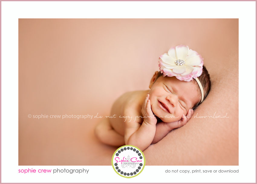 San Diego smiling newborn photographer