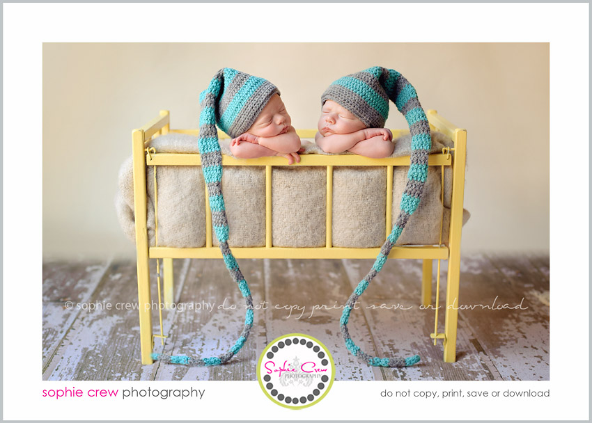 san diego newborn twin photography