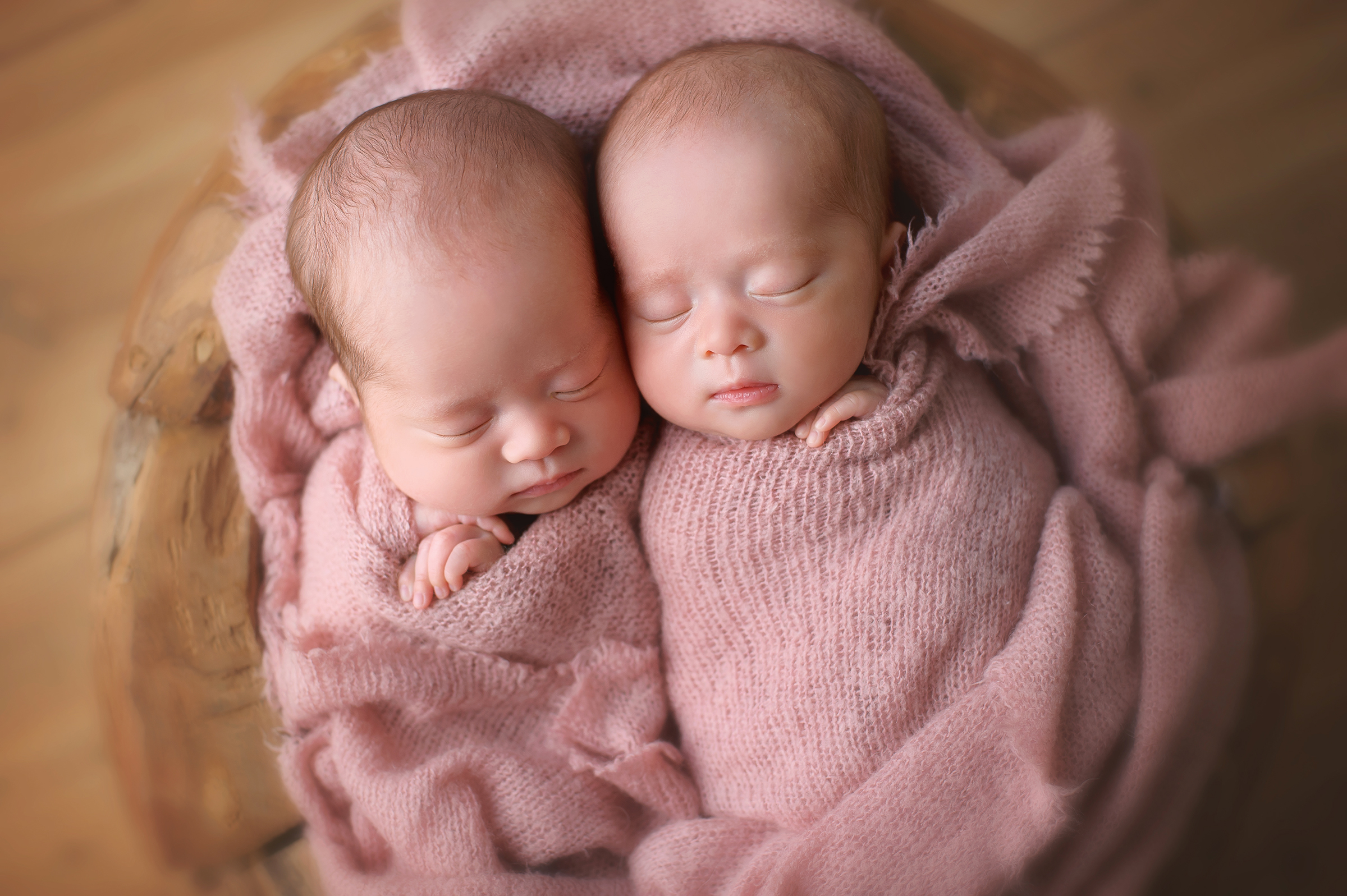 Twin newborn baby photographer in La Jolla, CA
