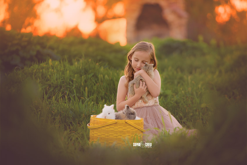 A Magical Child Photography Session with Bunnies