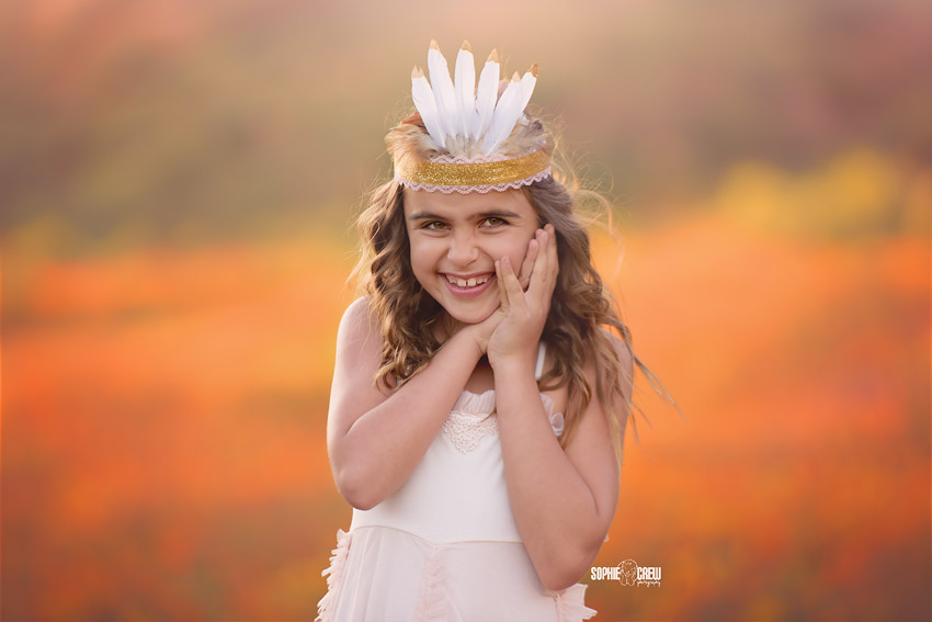 DIY feather crown for photography in San DIego