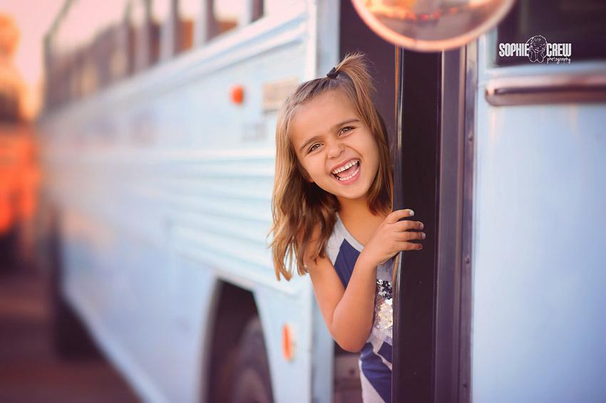 San Diego back to school fun colored school bus