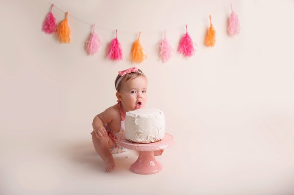 Peachy Cake Smash Photographer In San Diego Ca Sophie Crew Photography Personalised Birthday Cards Veneteletsinfo
