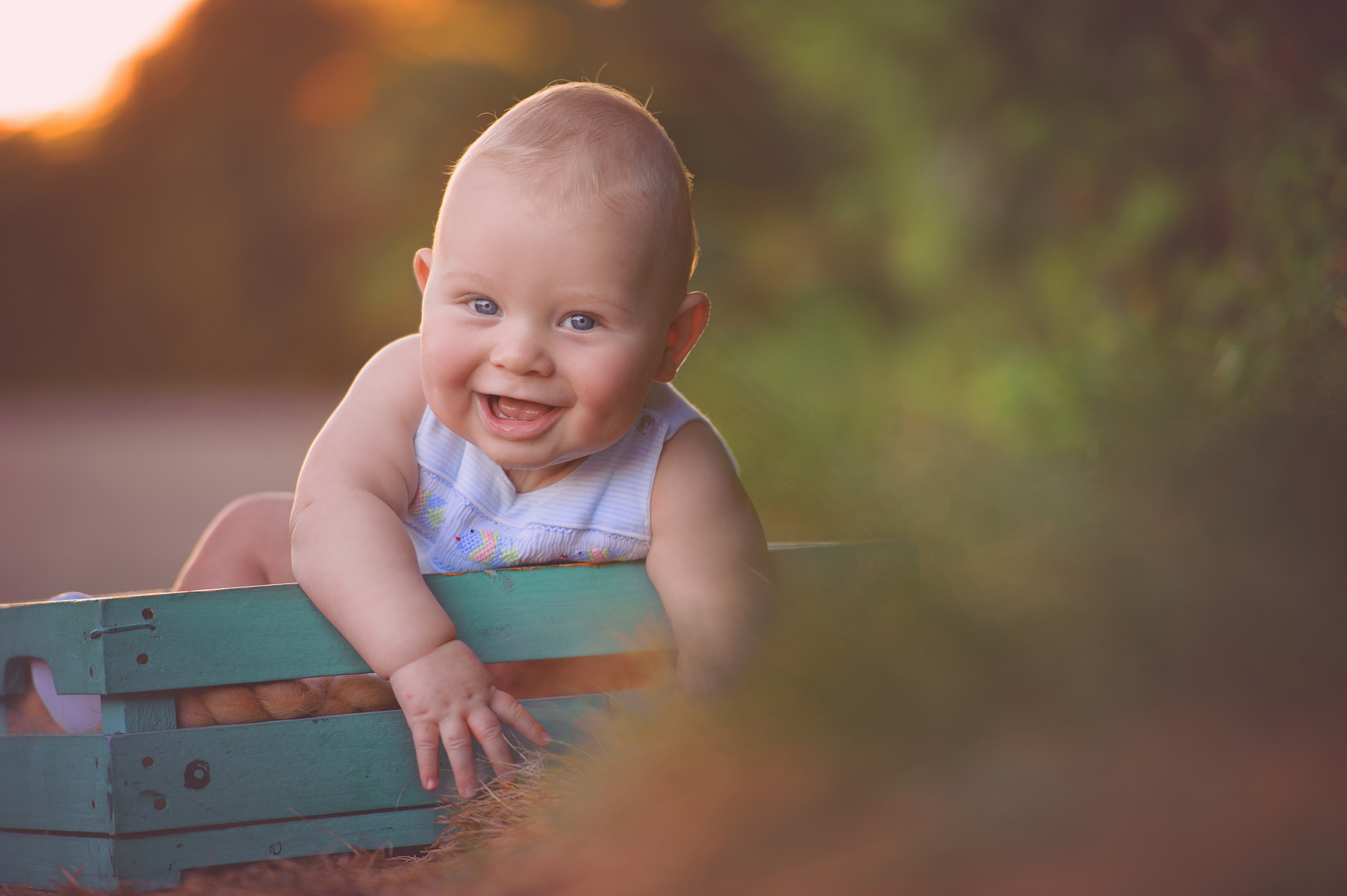 6 month sitter portrait photography session outdoors in Solana Beach, CA