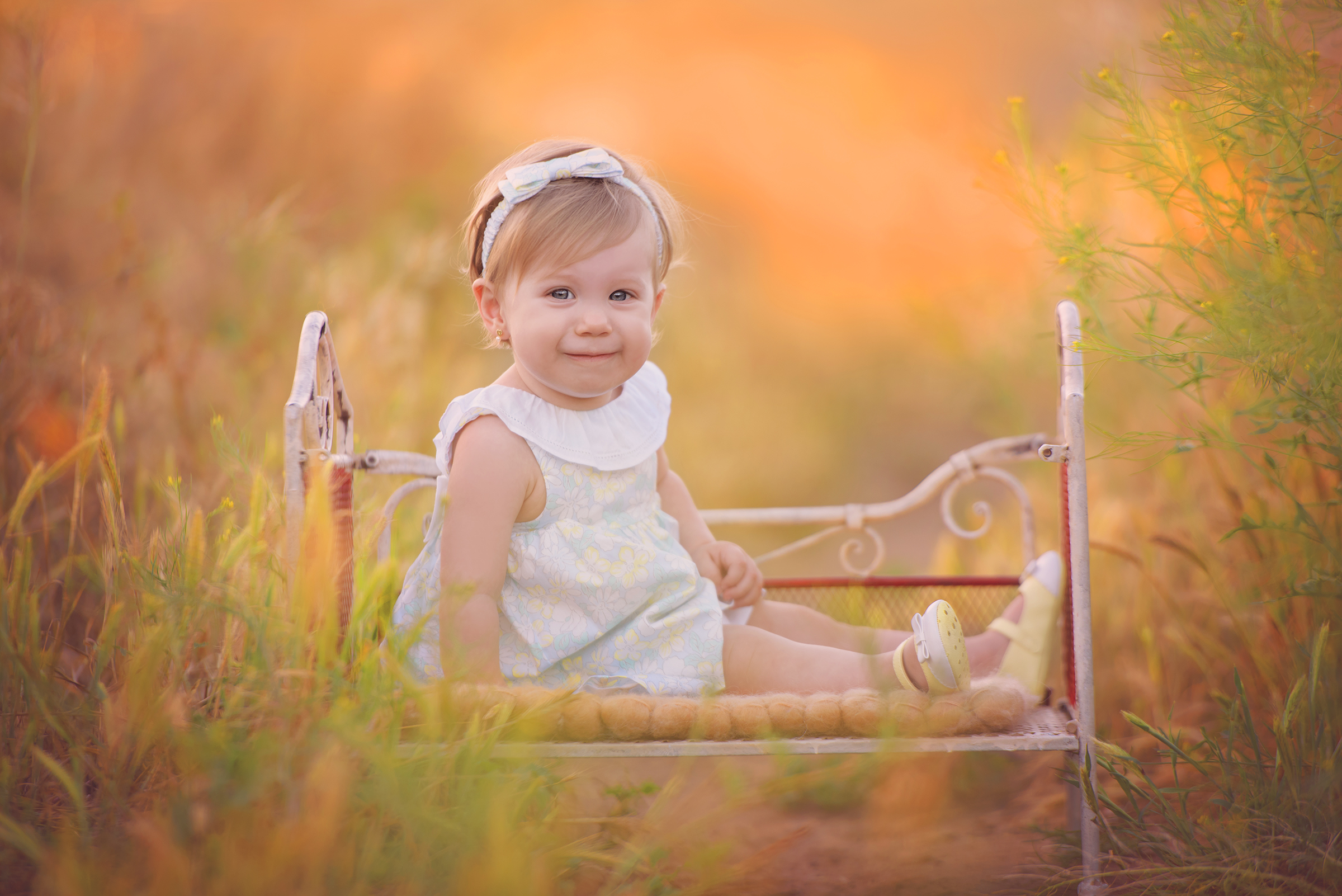 Baby girl during San Diego portrait photo session in Santee, CA