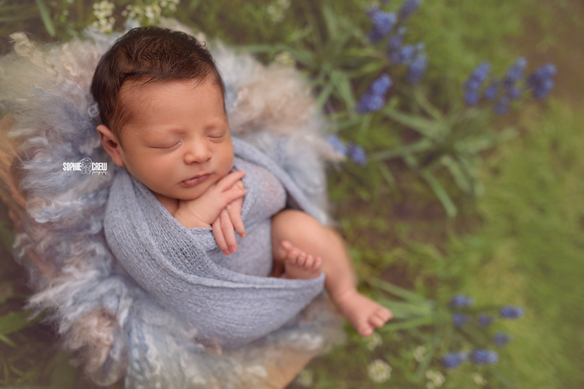 Sophie Crew Photography Outdoor Newborn Portraits in San Diego